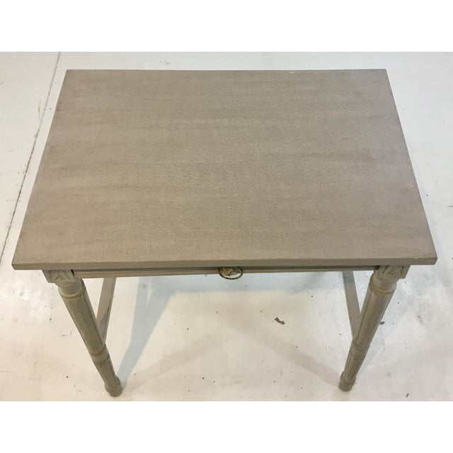 Currey & Co. French Country Style Lysanne Gray Wood End Table For Sale In Atlanta - Image 6 of 7