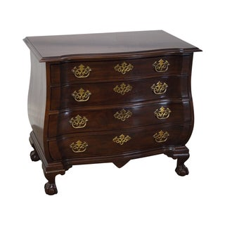 Drexel Heritage Chippendale Mahogany Bombe Chest For Sale