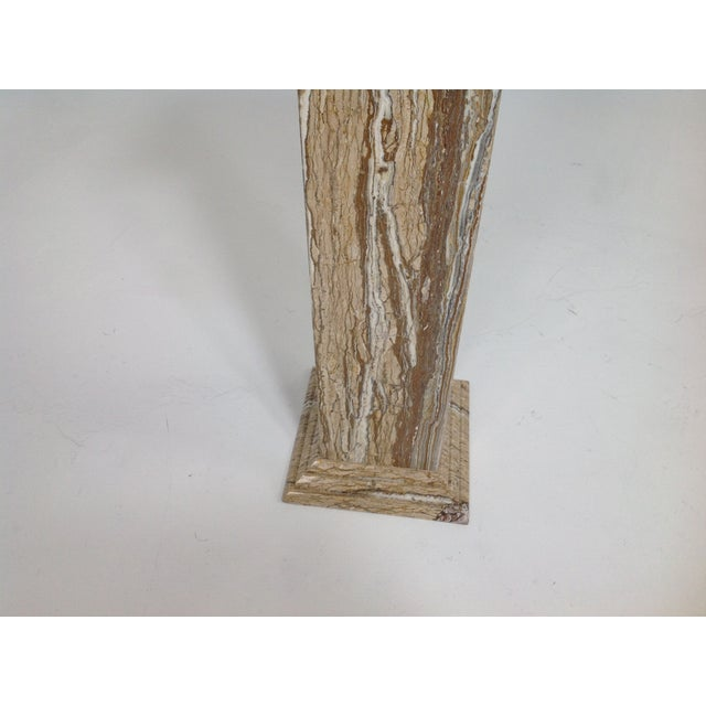 Travertine Statue or Plant Stand For Sale - Image 5 of 6