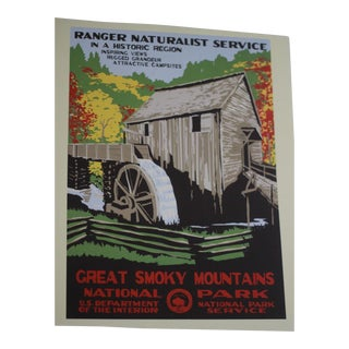 Vintage National Park Service Great Smoky Mountains Poster Print For Sale