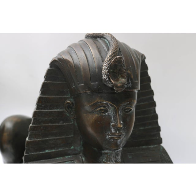 Bronze Circa 1850 French Empire Bronze Sphinx Sculptures - a Pair For Sale - Image 7 of 11