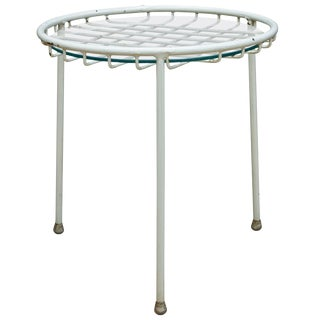 1950s Rare George Nelson Associates Arbuck Table Stool Wire Grid Iron Patio For Sale