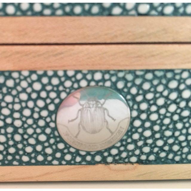 Teal Shagreen Treasure Box - Image 4 of 6