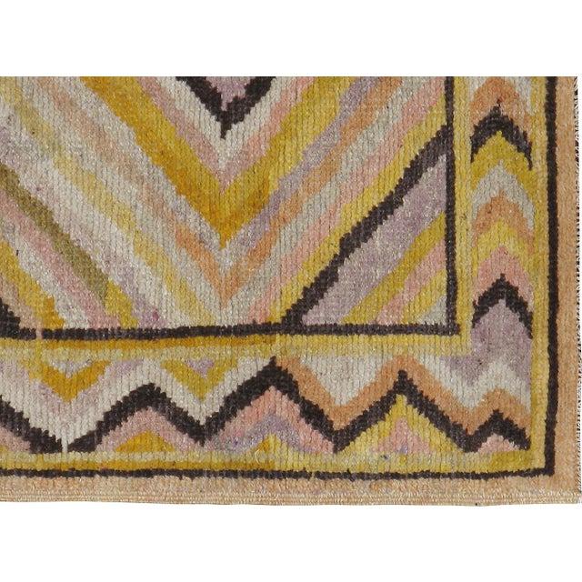 Early-20th century, antique Samarkand Khotan carpet. Hand-woven, professionally washed.