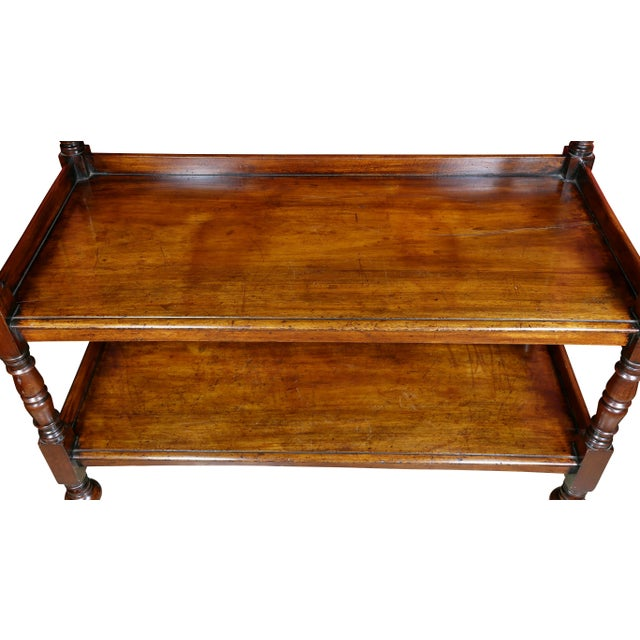 Regency Mahogany Book Trolley For Sale - Image 4 of 11