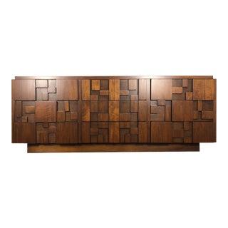 1960s Brutalist Paul Evans for Lane Furniture Nine Drawer Credenza