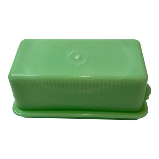 1930s McKee Jadeite Covered Butter Dish For Sale