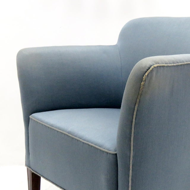 Blue 1940 Fritz Hansen Club Chairs 'Model 1146' - a Pair For Sale - Image 8 of 12