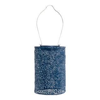 Soji Stella Outdoor Solar Powered Cylinder Lantern in Blue For Sale