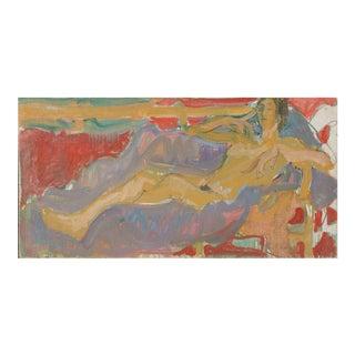 'Reclining Nude' by Victor Di Gesu; 1965, Paris, Louvre, Académie Chaumière, California Post-Impressionist, Lacma For Sale