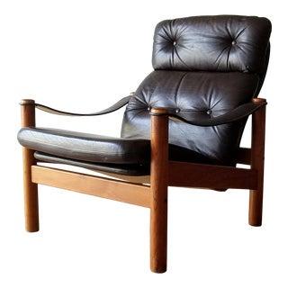 1970s Ebbe Gehl & Søren Nissen Lounge Chair for Jeki Møbler, Unmarked For Sale