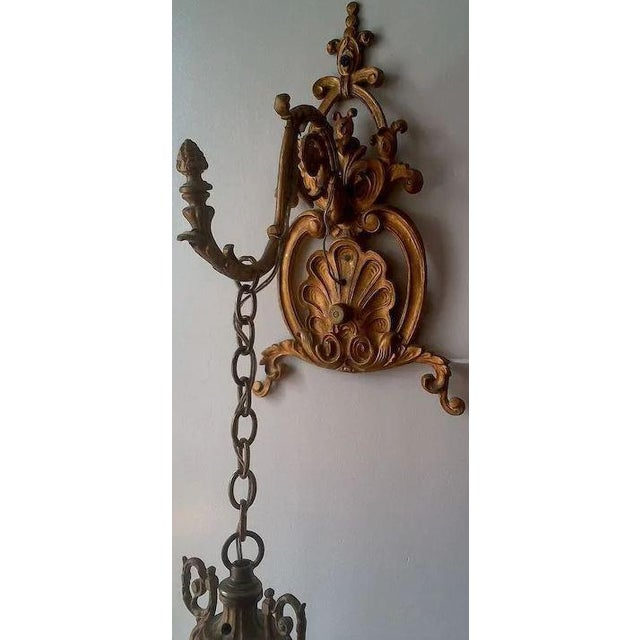 Metal Pair of Beautiful Floral Pendant Lights or Sconces For Sale - Image 7 of 10