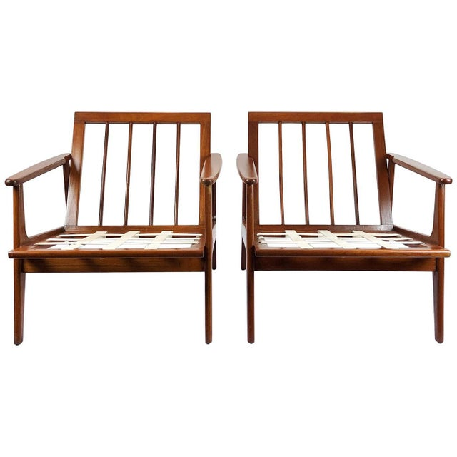Armchairs in the Style of Clara Porset - a Pair For Sale - Image 9 of 9