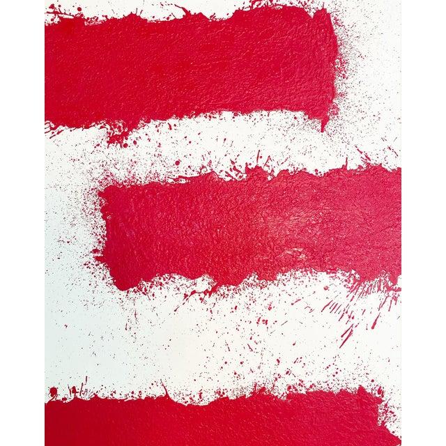Dark Pink John O'Hara, Tar, T3, Encaustic Painting For Sale - Image 8 of 11