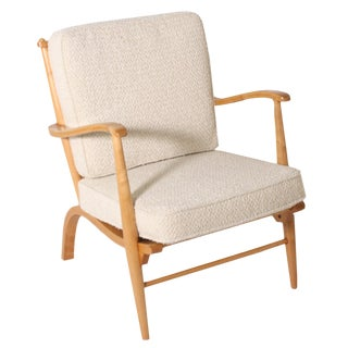 Pair of French Lemon Wood Chairs, C. 1950 For Sale