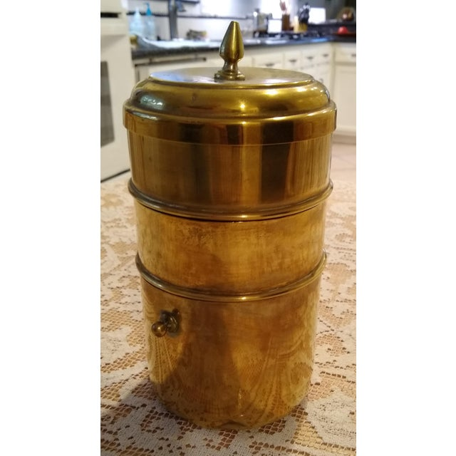 Chinese Brass Tiffin Meal Container For Sale In Houston - Image 6 of 6