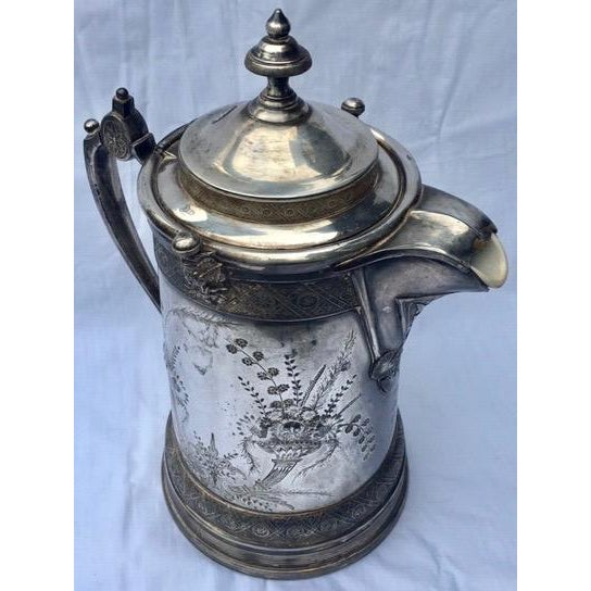 1870s Reed & Barton Victorian Silverplated Water Pitcher For Sale - Image 13 of 13