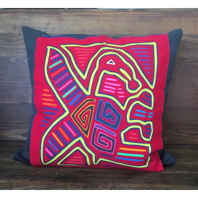 "An Original Mola Cloth custom pillow. 20"" Square. This pillow keeps all of the detail of the original cloth. Made in..."