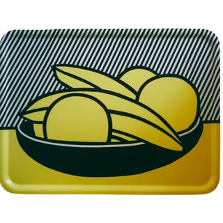 "Roy Lichtenstein X Barney's New York ""Bananas and Grapefruit"" Birchwood Tray For Sale"