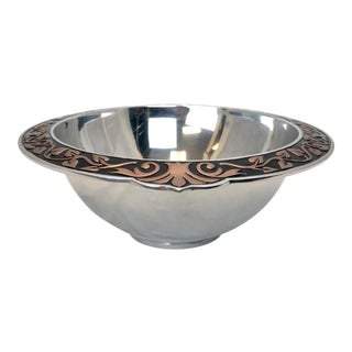 Gorham Silver Fruit Bowl with Contrasting Rim For Sale
