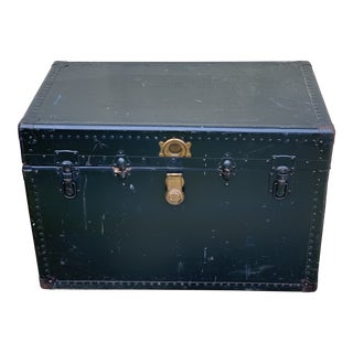 1940s Traditional Leather Trunk For Sale