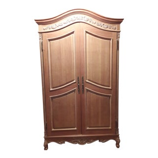Scroll Wood Carved Armoire