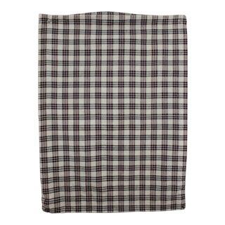 Vintage Kelsch Red & Blue Indigo Plaid Linen Cotton Pillow Cover Fabric For Sale