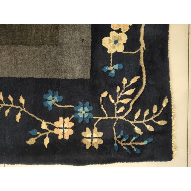1920s Antique Chinese Peking Rug For Sale - Image 5 of 6