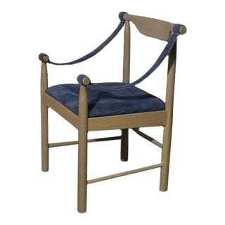 1970s Vintage Oak Safari Chair For Sale