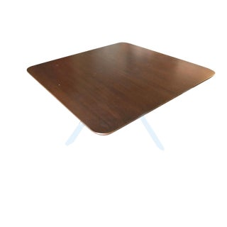 Tripod Leg Coffee Table With Dark Stained Oak Top For Sale