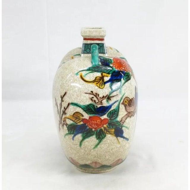 Antique Kutani Floral Vase For Sale - Image 4 of 11
