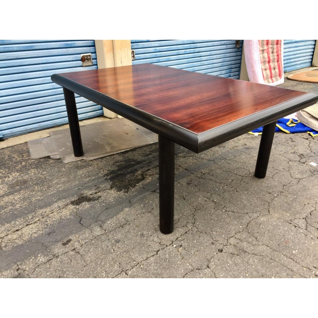Robert Baron for Glenn of California, Rosewood Top Dining Table For Sale In San Francisco - Image 6 of 6