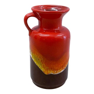West German Fat Lava Jug Vase For Sale
