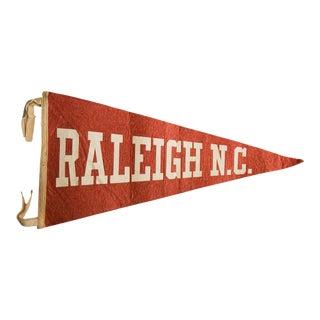 Vintage Raleigh Nc Felt Flag For Sale