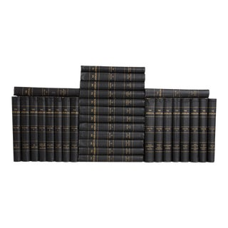 Early 20th Century Vintage Onyx Americana Book Set - Set of 30 For Sale