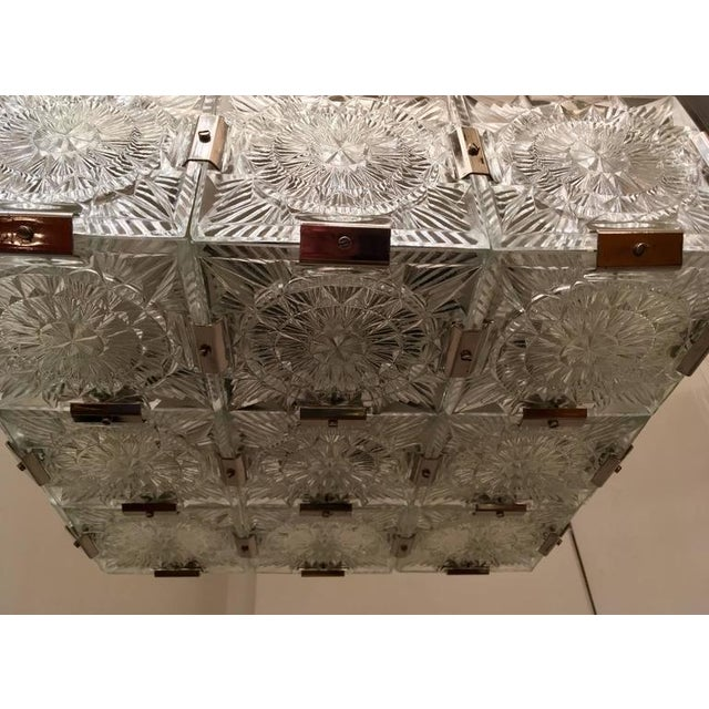 Silver 1960s Czech Bohemian Crystal Flush Pendant For Sale - Image 8 of 10