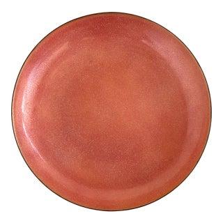 Large Jade Snow Wong Enamel Copper Centerpiece Bowl For Sale