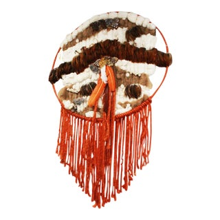 Native American Style Macrame Oversized Dream Catcher For Sale
