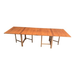 """Bruno Mathsson Folding Dining Table """"Maria"""" For Sale"""