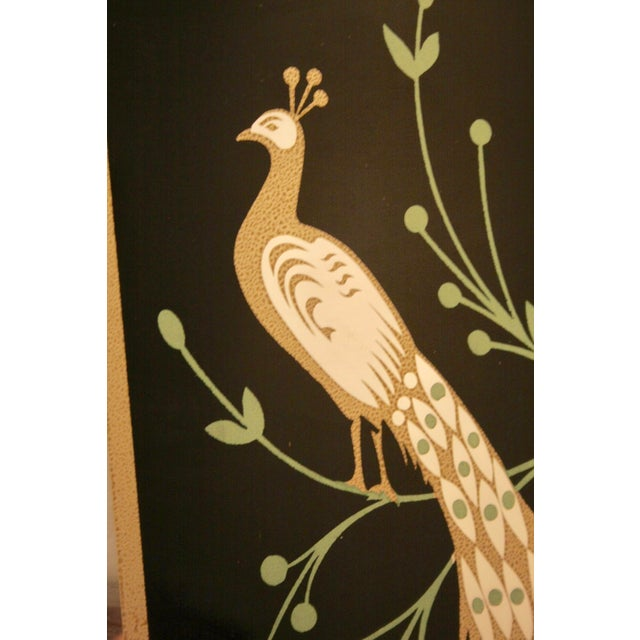 Peacock Embellished Mirror with Slim Gold Frame - Image 6 of 10