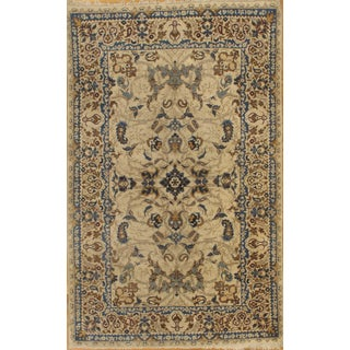 Pasargad Antique Kashan Hand-Knotted Rug - 4′ × 7′ For Sale