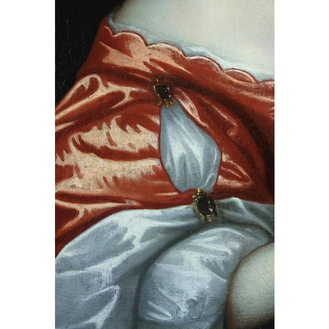 Framed Oil on Canvas of a Noblewoman Attributed to Sir Peter Lely For Sale - Image 4 of 8