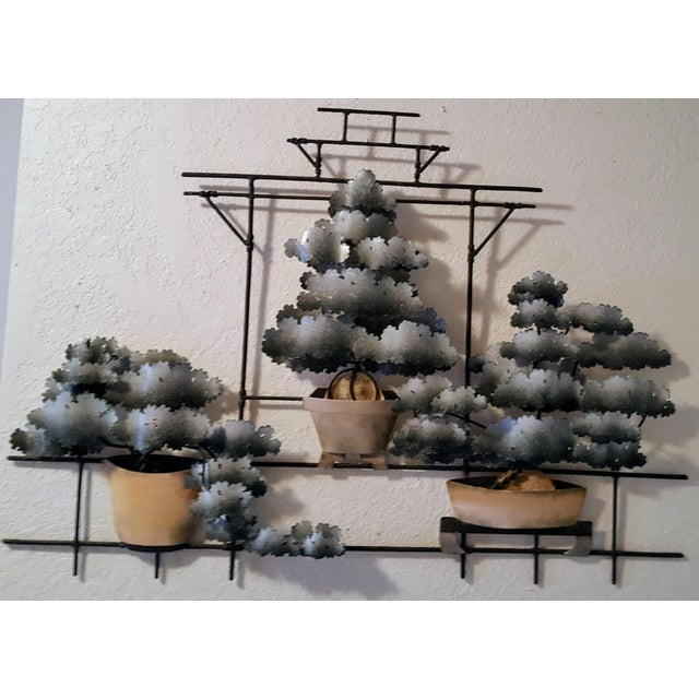 Metal Contemporary Bonsai Garden Tole Wall Art For Sale - Image 7 of 7