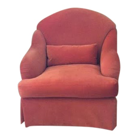 Club Chair in Persimmon Velvet - Image 1 of 3