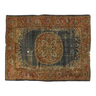Distressed Antique Persian Sultanabad Rug - 09'03 X 11'09 For Sale