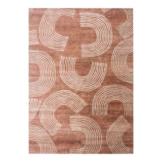 Half Moon 5' x 8' Rug - Terra Cotta/Ivory For Sale