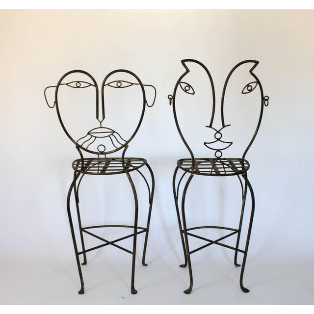 Figural Iron Chairs in the Style of John Risley For Sale In Milwaukee - Image 6 of 13