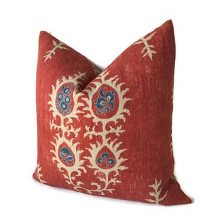 Red Tribal Flame Pillow Cover Preview