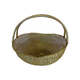 Woven Brass Basket Preview