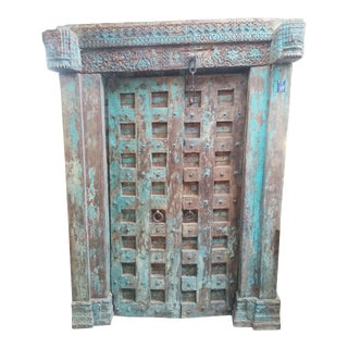 Farmhouse Style Antique Indian Door For Sale